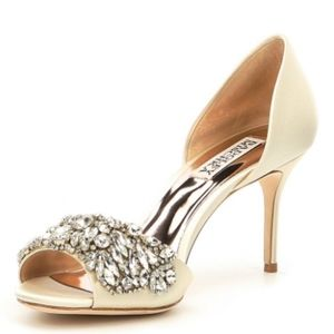 87fe1ebbd621 Badgley Mischka Shoes - Badgley Mischka Hansen Satin Jeweled